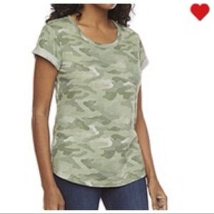 NWT a.n.a for JCP Camo green top plus size